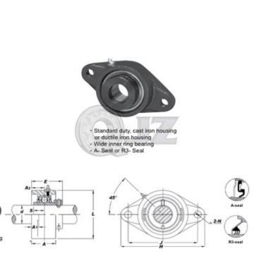 2 in 2-Bolts Flange Units Cast Iron HCFL211-32 Mounted Bearing HC211-32+FL211